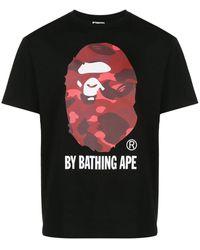 A Bathing Ape - Camo Ape Head Tシャツ - Lyst