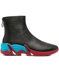 Raf Simons コントラストソール ブーツ - ブラック