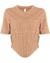 Dion Lee Corset Design T-shirt - Brown