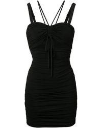 Dolce & Gabbana Jurk Met Ruches - Zwart