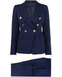 Tagliatore Double-breasted Trouser Suit - Blue