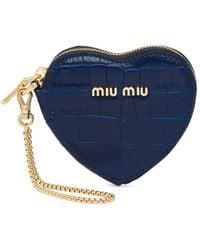 Miu Miu ハート キーホルダー - ブルー