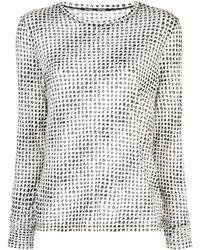 Proenza Schouler プリント ロングtシャツ - ホワイト