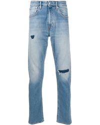 Calvin Klein Jean slim à effet usé - Bleu