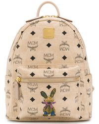 MCM - All-over logo backpack - Lyst