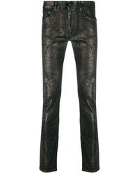 Karl Lagerfeld メタリック スキニージーンズ - ブラック