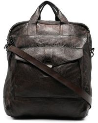Eleventy Leather Tote Bag - Brown