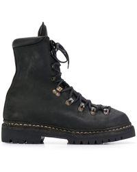 Guidi Ботинки На Шнуровке - Черный
