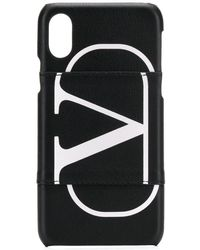 Valentino Garavani Vlogo Iphone 10 Case - Black