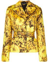 Richard Quinn Floral Print Blazer - Yellow