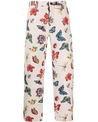 RIPNDIP Pantalones de chándal Monarch con motivo de mariposas - Multicolor