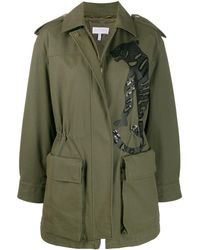 ESCADA Embellished Tiger Coat - Green