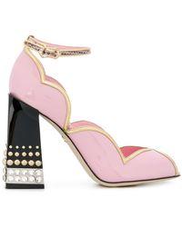 c585351c06a Dolce   Gabbana - Peep Toe D orsay Pumps With Jewel Heel - Lyst