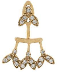 Yvonne Léon - 18kt Gold And Diamond Earring - Lyst