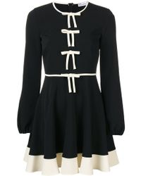 RED Valentino - Bow Balloon Sleeve Mini Dress - Lyst