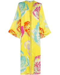 All Things Mochi Camila Side Split Kimono - Geel