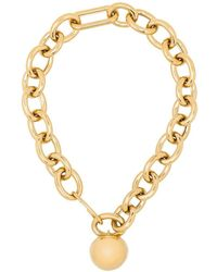 Jil Sander Gold-plated Dome Chain Necklace - Metallic