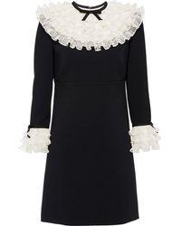 Miu Miu Kleid mit Rüschen - Schwarz