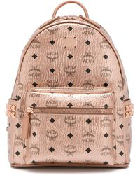 MCM Logo Print Backpack - Pink