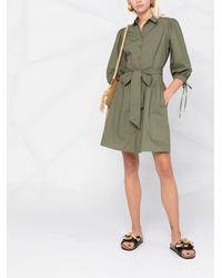 Liu Jo Tie-fastening Shirt Dress - グリーン