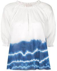 Karen Walker Top Ultramarine con motivo tie-dye - Blanco