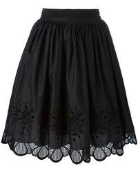 Moncler - Floral Scalloped Skirt - Lyst