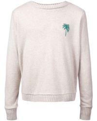 The Elder Statesman - Palm Tree Regular Sweater - Lyst