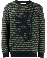 4de95137 Pringle of Scotland - Lion Zigzag Intarsia Sweater - Lyst