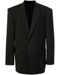 Juun.J Contrast-panel Blazer - Black