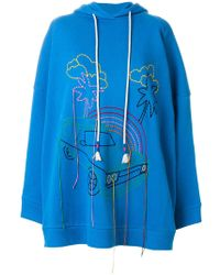 MIRA MIKATI | Embroidered Hoodie | Lyst
