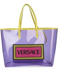 Versace - Pvc Logo Shopper Tote - Lyst