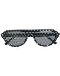 Calvin Klein Солнцезащитные Очки В Геометричной Оправе - Черный