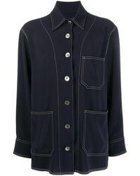 Alberto Biani ポインテッドカラー シャツ - ブルー