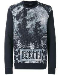 Balmain - Graphic Print Jumper - Lyst