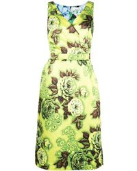 Richard Quinn - Floral Print Fitted Dress - Lyst