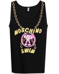 Moschino Logo-print Vest Top - Black