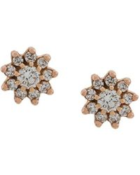 Dana Rebecca Diamond And 14kt Rose Gold Jennifer Yamina Stud Earrings - Metallic