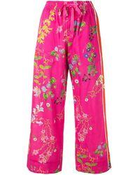 Cynthia Rowley Pantalones de pijama con estampado botánico - Rosa