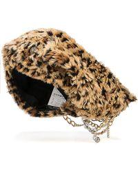 Junya Watanabe Leopard-print Faux Fur Hat - Metallic