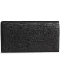 Burberry - Embossed Leather Continental Wallet - Lyst