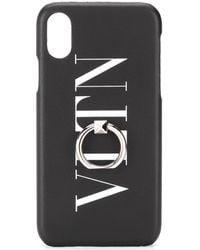 Valentino Garavani Чехол Для Iphone X С Логотипом Vltn - Черный