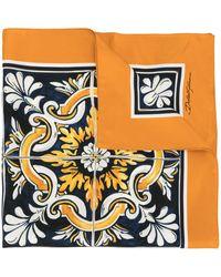 Dolce & Gabbana Zijden Sjaal - Oranje
