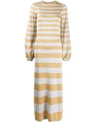 Bella Freud Glittered Stripe Knitted Dress - Multicolor