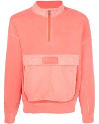 Nike Zip Up Large Pocket Sweater - Pink