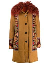 Etro Пальто С Узором - Многоцветный