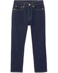 Burberry Monogram Motif Cropped Jeans - Blue
