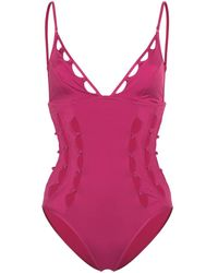Zimmermann Goldie Crescent Cut-out Swimsuit - Pink
