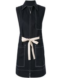 Lee Mathews Zip-up Dress - Blue