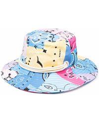 Khrisjoy Bandana-print Sun Hat - Blue