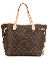 Louis Vuitton Neverfull Mm Draagtas - Bruin